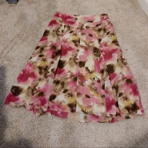 Jones New York Floral Chiffon Skirt